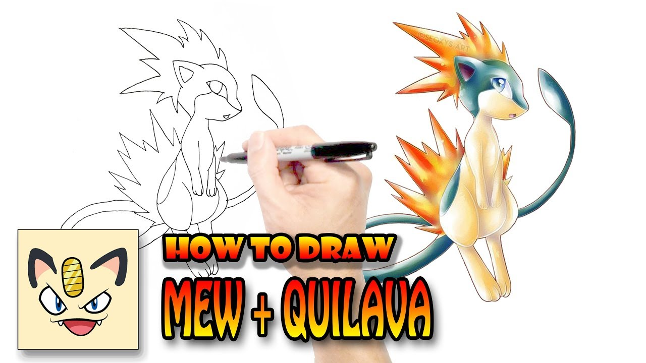 1280x720 How To Draw Mew Quilava Pokemon