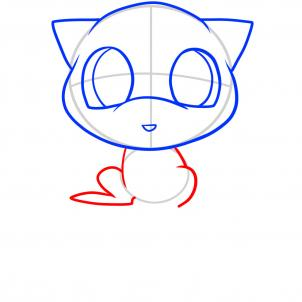 302x302 How To Draw Chibi Mew, Mew, Step