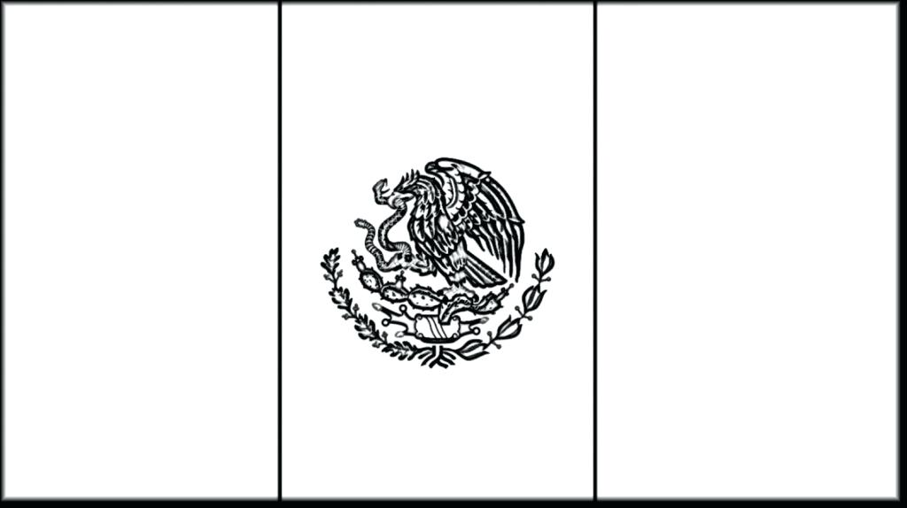 1024x574 mexican flag outline mexican flag eagle outline flag drawing