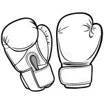 150x150 drawing on boxing gloves boxing gloves illustration stock vector
