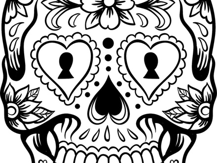 Mexican Sugar Skull Drawings