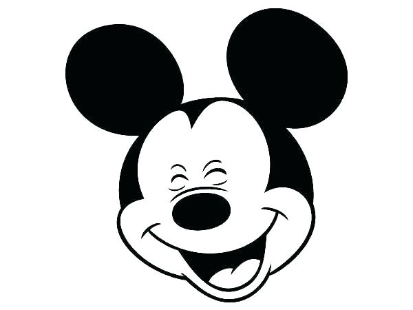 600x450 outline of mickey mouse mickey mouse black and white mickey mouse