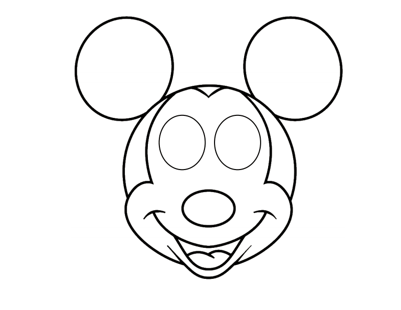 Mickey Mouse Drawing Face