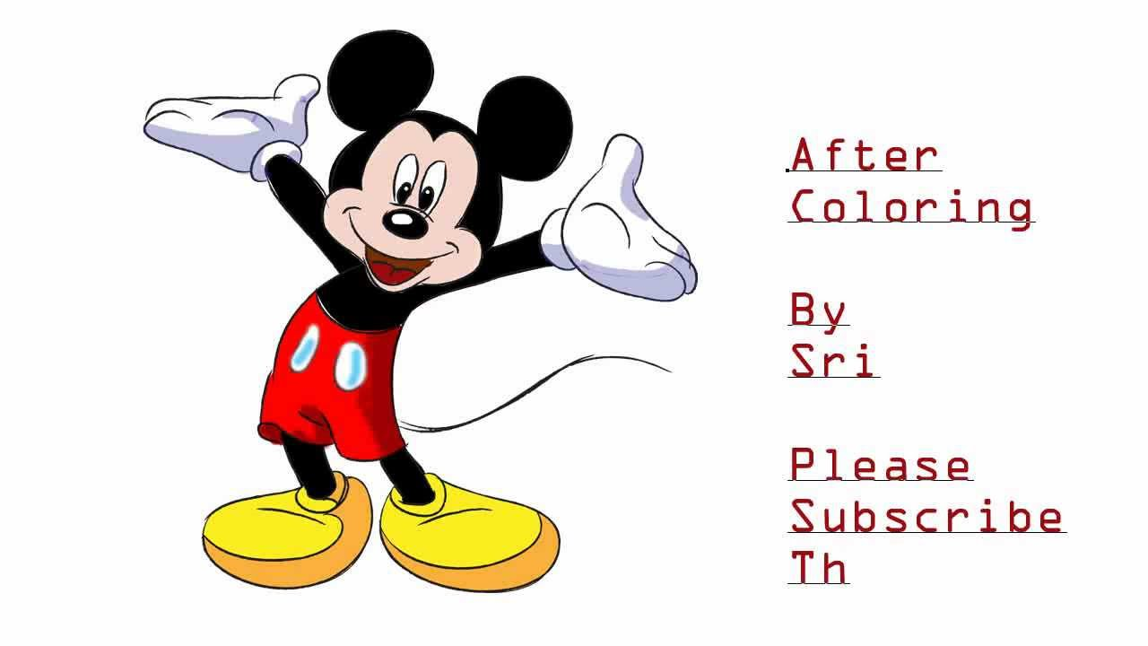 1280x720 how to draw mickey mouse tutorial drawing and coloring tutorial hd
