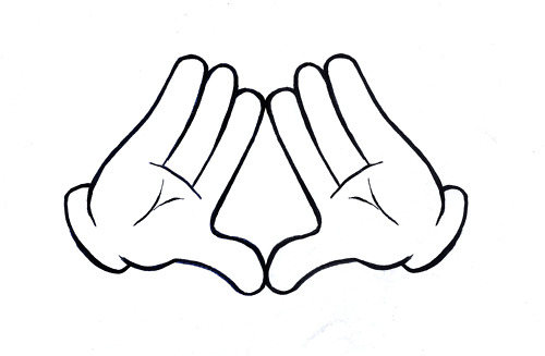500x327 Mickey Mouse Hands Or Gloves Templates Mickey Mouse