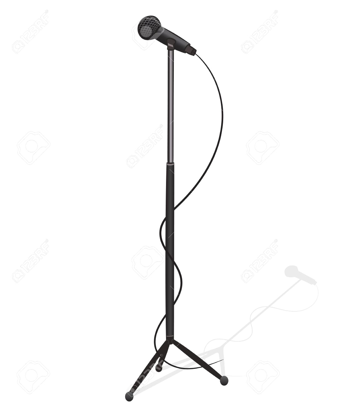 1083x1300 free drawn microphone microphone stand, download free clip art
