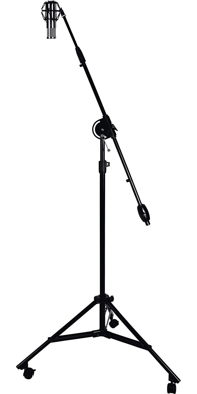 750x1500 proline studio boom mic stand black musical instruments