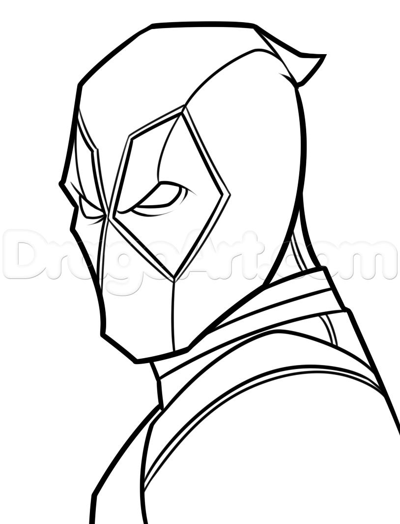 814x1065 Romantic Simple Pencil Sketch Of Deadpool Gallery