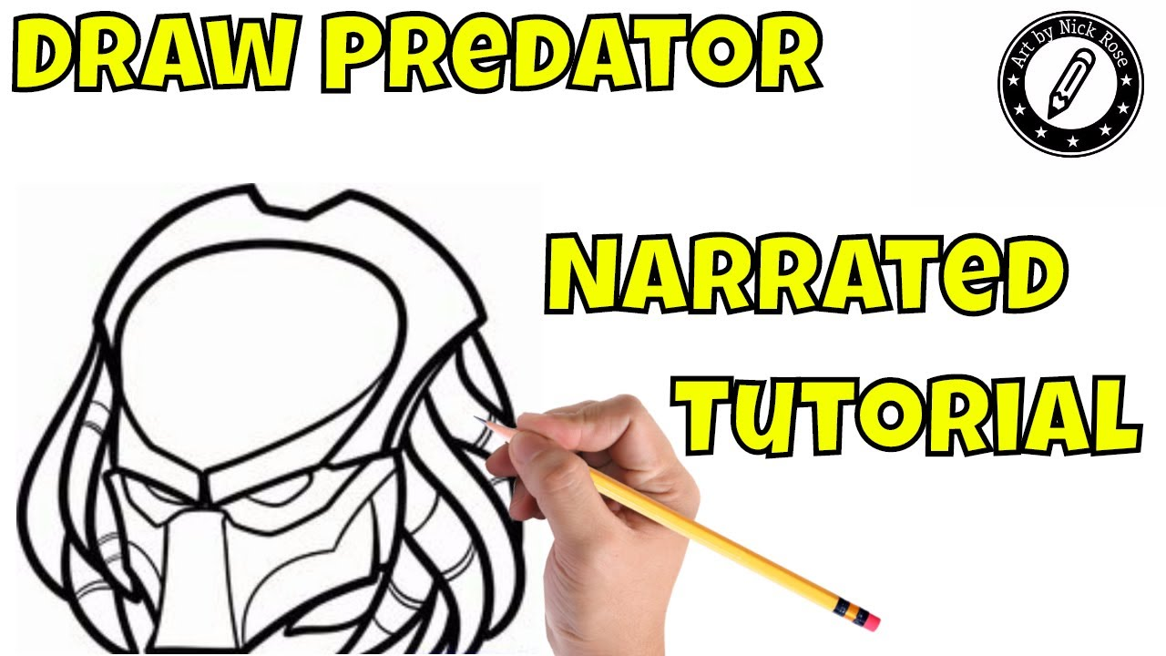 1280x720 Draw The Predator Maskhow To Draw The Predatornarrated Tutorial