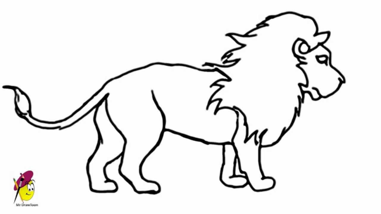 1280x720 Huge Collection Of 'lion Drawing Step