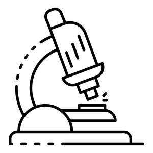 300x300 lab microscope icon outline lab microscope icon for web design