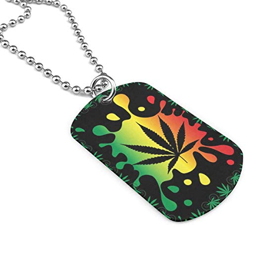 522x522 Jewelry Dog Tag Necklace Draw Weed Painting