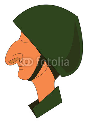 286x400 a smiling soldier wearing a military helmet is smiling vector