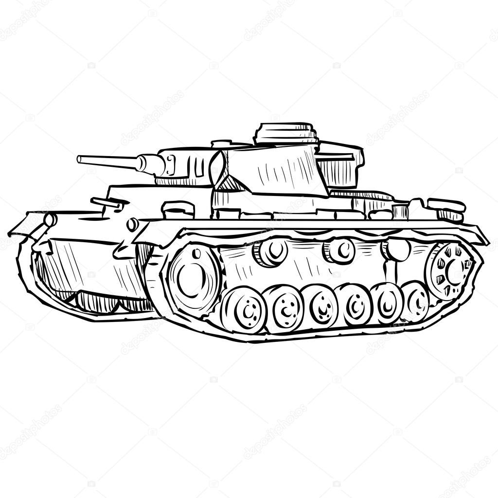 Military Tank Drawing