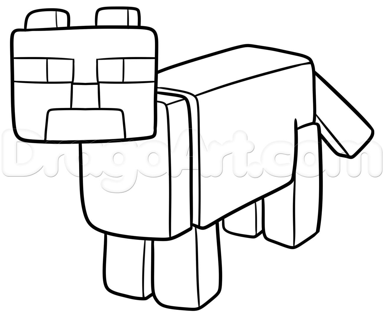 1301x1088 how to draw a minecraft ocelot, step