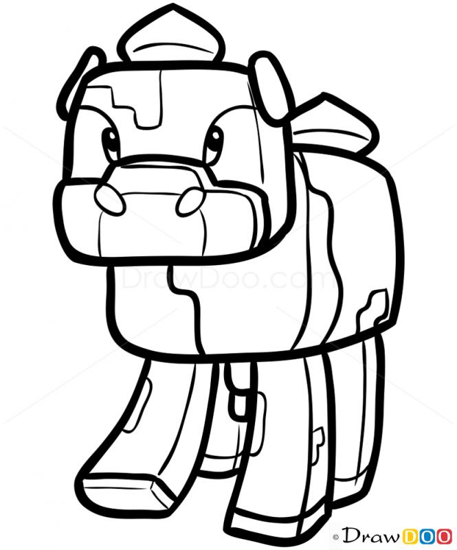 Minecraft Cat Drawing