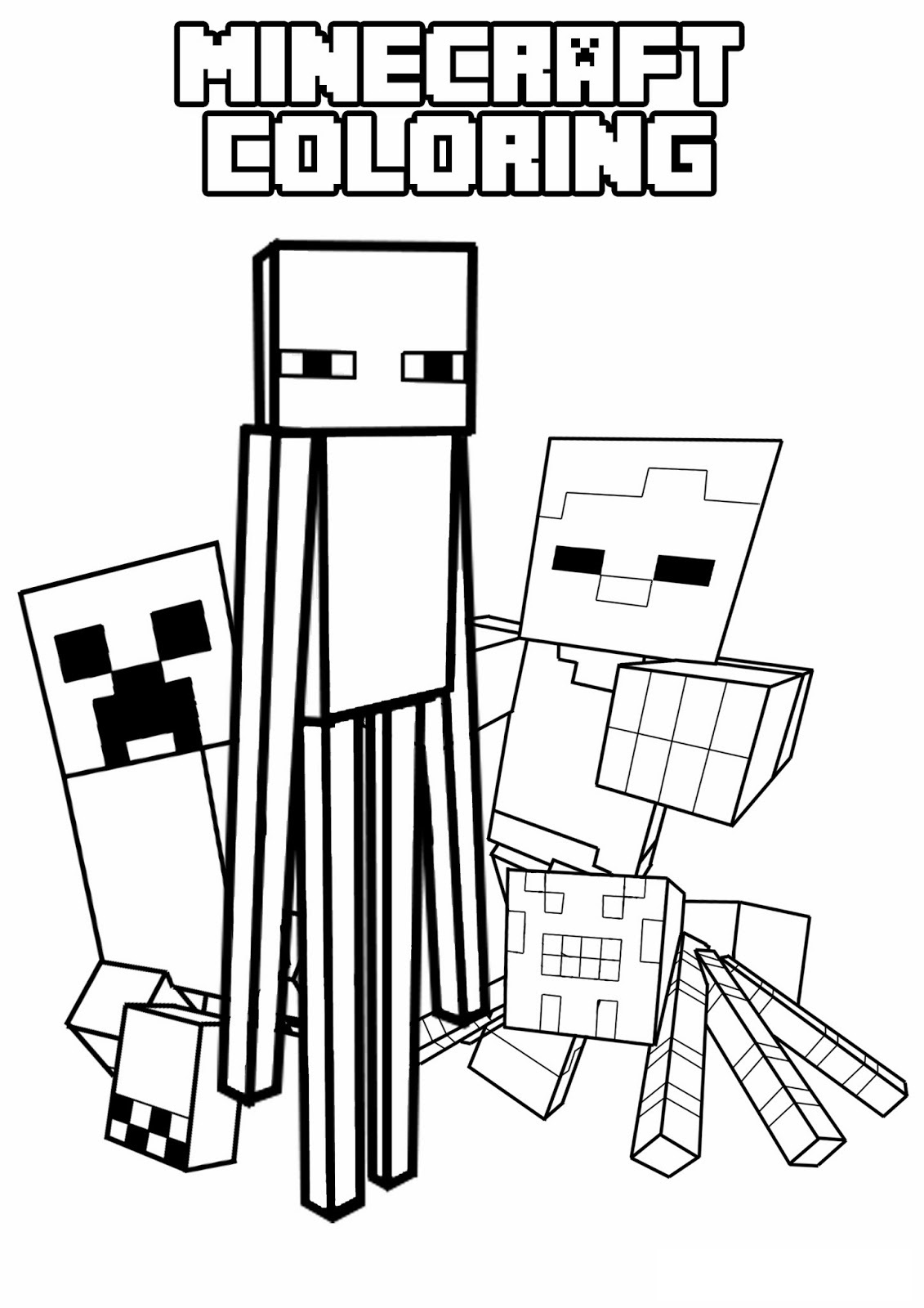 Minecraft Creeper Drawing   Free download on ClipArtMag
