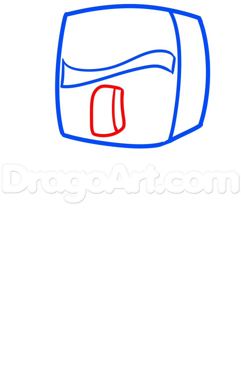 840x1275 How To Draw A Minecraft Villager, Step
