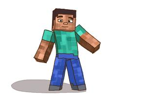 300x200 How To Draw Steve From Minecraft