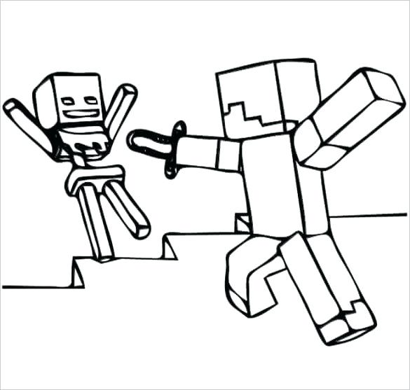 585x557 minecraft ocelot coloring pages coloring pages to download