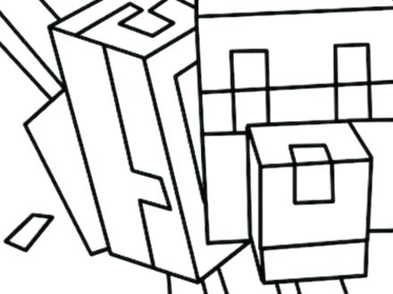 440x330 Minecraft Wolf Coloring
