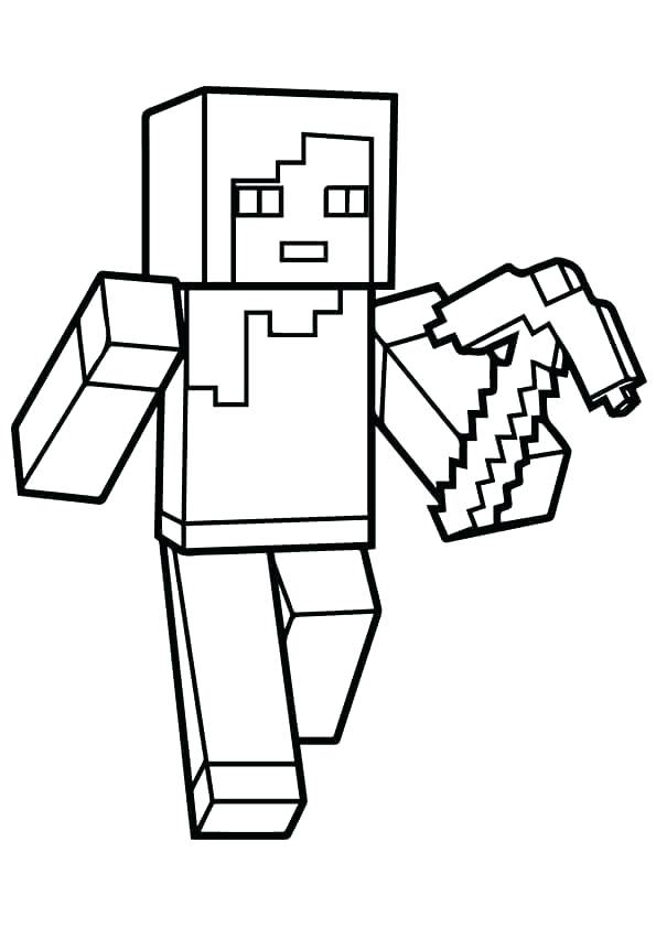 595x842 Minecraft Coloring Pages Of Steve