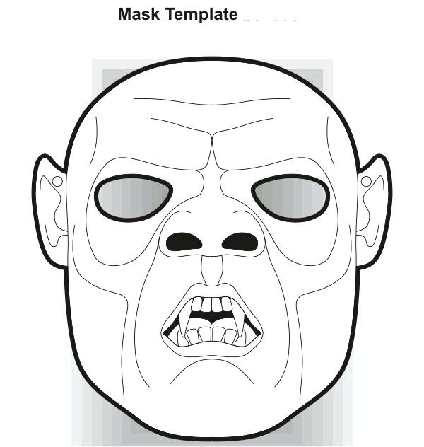 600x632 zombie mask template old vampire scary mask minecraft zombie mask