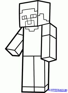 Minecraft Drawings Step By Step