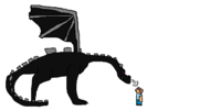 Minecraft Ender Dragon Drawing