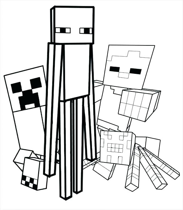 Minecraft Enderman Drawing   Free download on ClipArtMag
