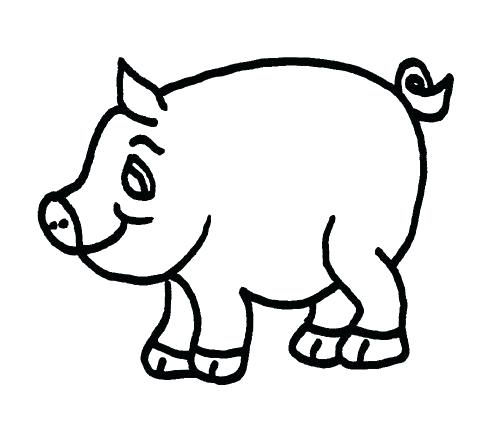 500x440 how to draw pig face pig black and white draw pig face on balloon