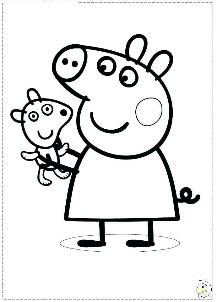 691x960 Pig Coloring Sheet Pig Coloring