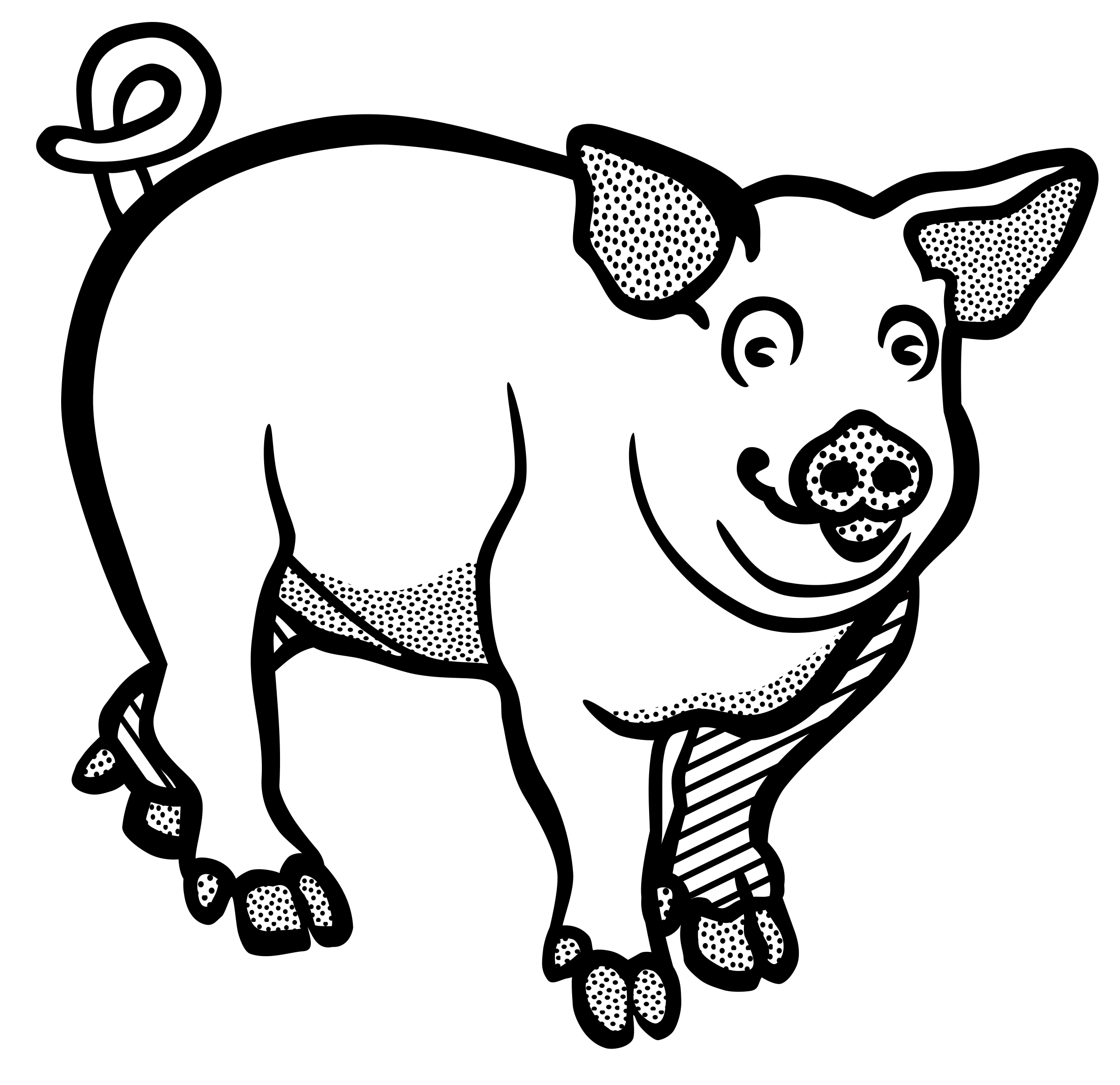 2400x2323 Collection Of Free Pigs Drawing Clipart Download On Ui Ex