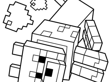 Minecraft Wolf Drawing