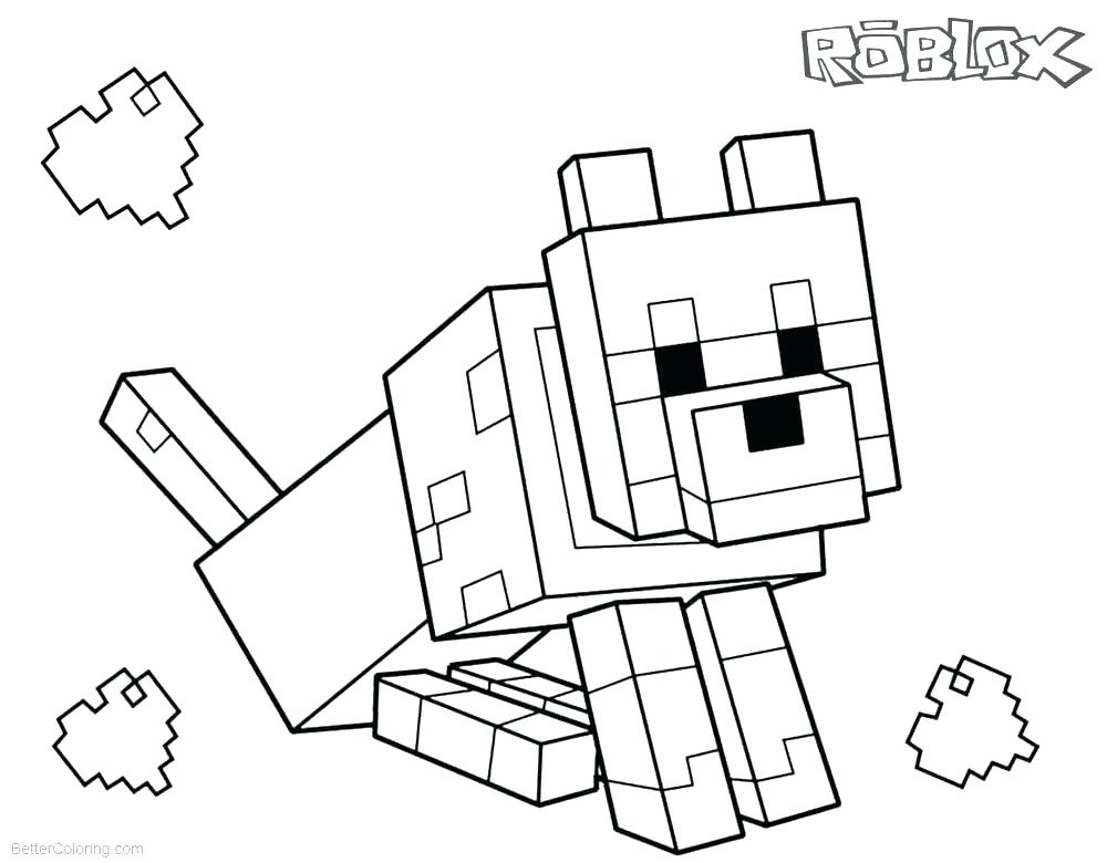 Minecraft Wolf Drawing Free Download On Clipartmag