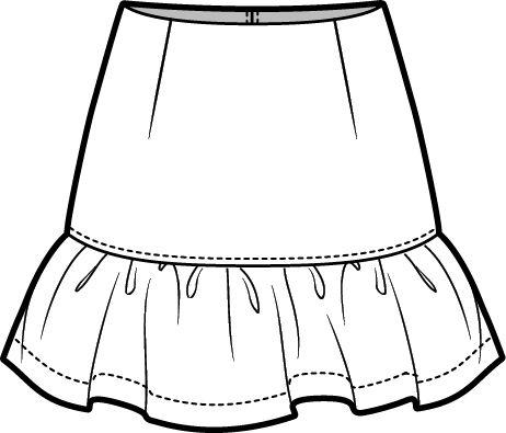 462x395 peplum skirt fashion flats fashion design sketches, fashion