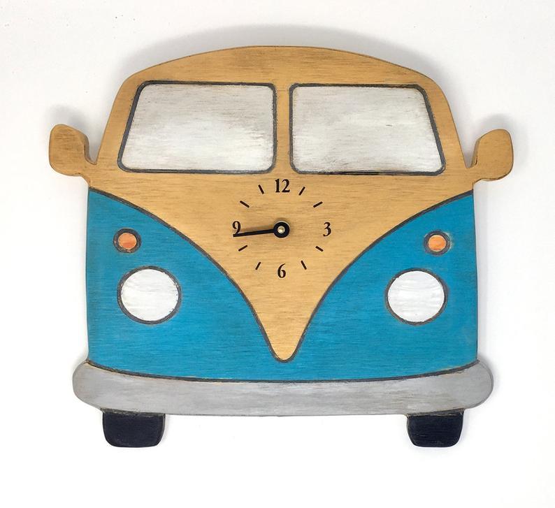 794x727 vw bus clock volkswagen van rustic home decor beach decor surf etsy