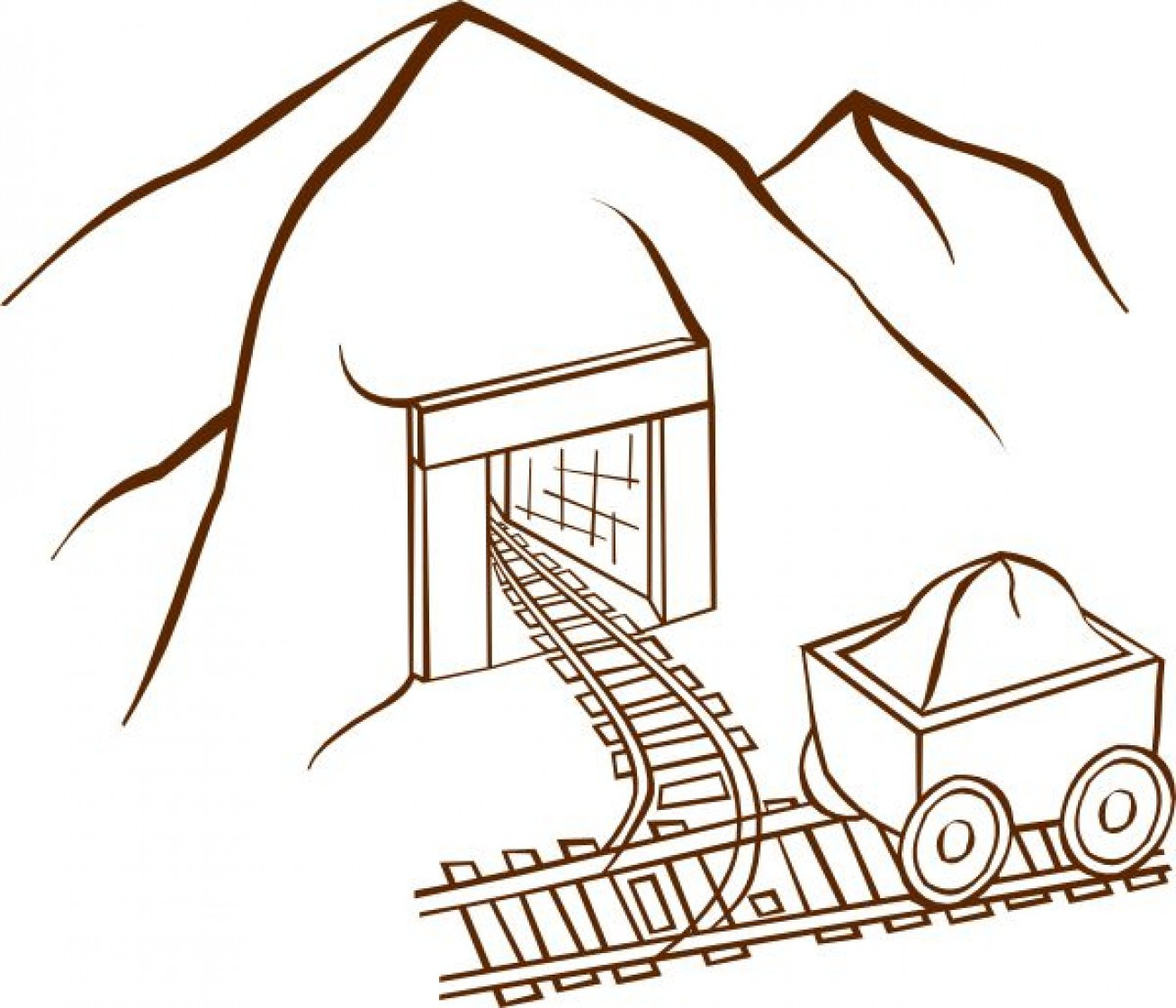 1307x1120 Elegant Coal Mining Coloring Pages
