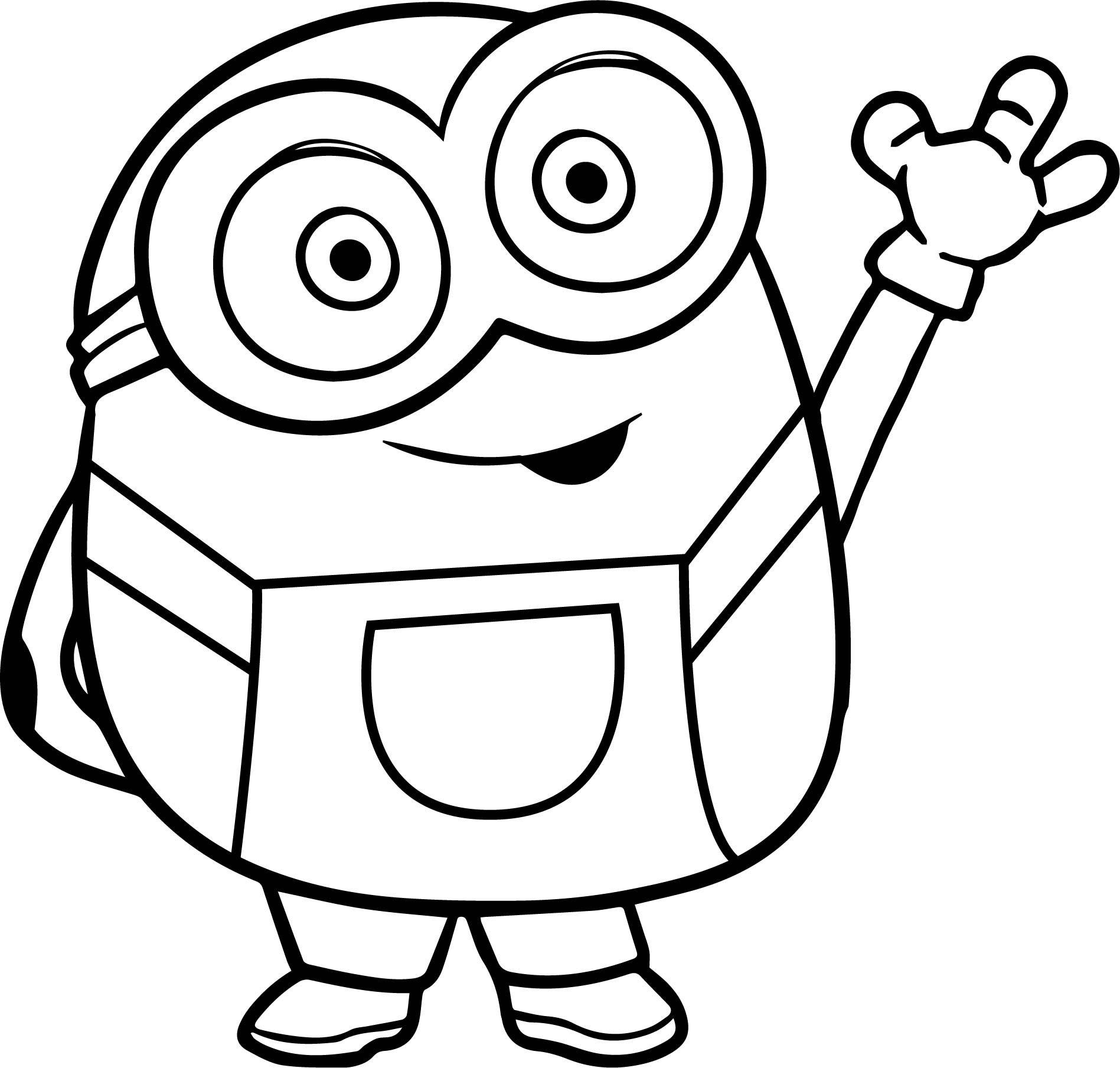 minion bob drawing free on clipartmag