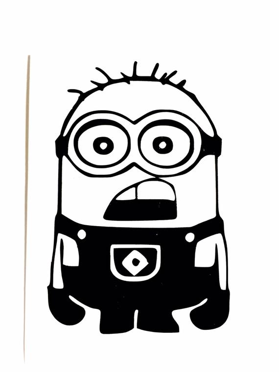 570x760 diy minion vinyl decal despicable me decal cartoon decal etsy
