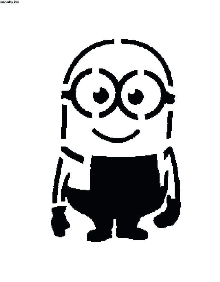 It is a picture of Printable Minion Template pertaining to single