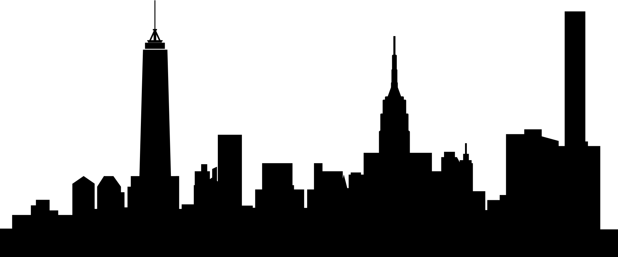2000x833 Collection Of Free Vector Skyline Manhattan Download On Ui Ex