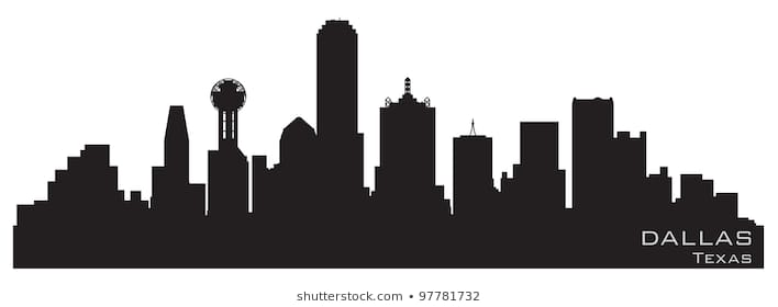708x280 Huge Collection Of 'dallas Skyline Drawing' Download More Than