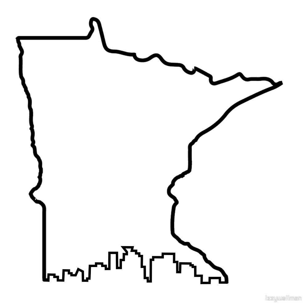 1000x1000 Minnesota Outline