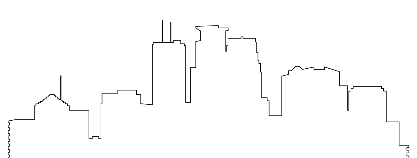 1326x504 Outline Of The Minneapolis Skyline Tattoos Minneapolis Tattoo