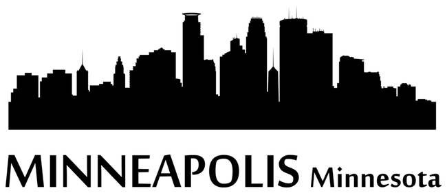 650x281 Stunning Downtown Minneapolis Skyline Vector Digital Artwork