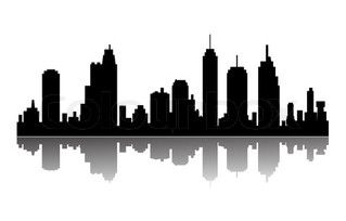319x204 Minneapolis Cityscape Cityscapes Silhouette Vector, Building