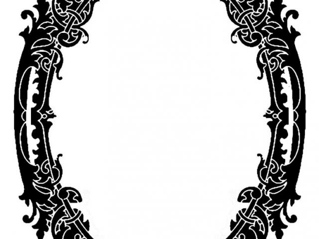 640x480 Mirror Clipart Line Drawing