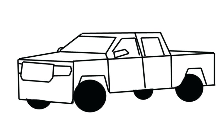 877x500 Truck Drawing Draw A Small Diagonal Rectangle To The Left Bottom