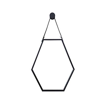 425x425 Wall Hanging Mirror Hexagon Metal